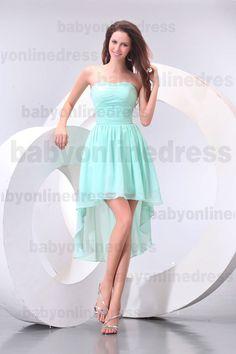 Cocktail Dresses Short Front Long Back - Plus Size Prom Dresses