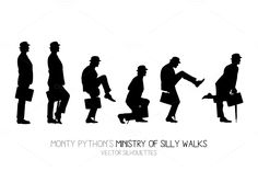 Ministry of Silly Walks (6 postures) by Side Project on Creative Market