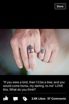 Owl/tree tattoo