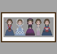 Gone With The Wind Melanie Cross Stitch, PDF Pattern, Old Hollywood Movie Star, Olivia De Havilland, Victorian Dresses, Costumes, Cute Small by LakeviewNeedlework on Etsy