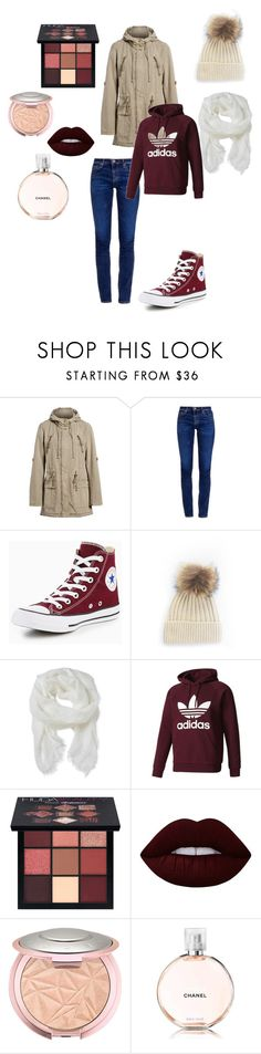 """""""Sad days"""" by nessayt ❤ liked on Polyvore featuring Levi's, AG Adriano Goldschmied, Converse, Altea, adidas Originals, Huda Beauty, Lime Crime and Chanel"""
