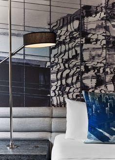 Meyer Davis — W Hotel Lakeshore Modern Interior, Interior Design, Hotel Bed, Great Night, Cafe Bar, Luxurious Bedrooms, Restaurant Bar, Bedroom Decor, Contemporary