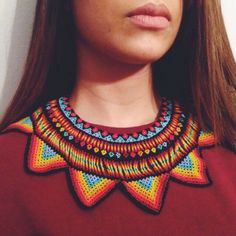 Neck Statement by @santaisla #Colombia #madebyhand #artisans #accessories #thingsilike