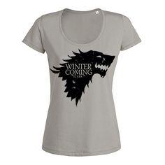 Winter Is Coming Game of Thrones Women's Shirt Game of Thrones Sexy t shirt Game…