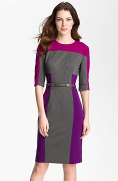 Maggy London Colorblock Ponte Sheath Dress (Petite) available at #Nordstrom