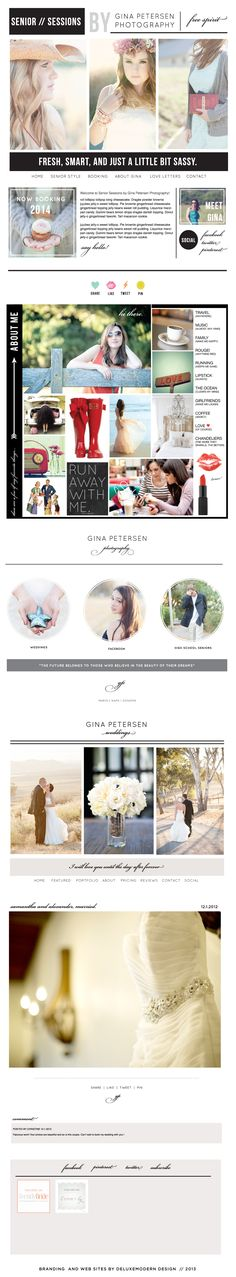 Deluxemodern Design for Gina Petersen Photography. Branding and Blogsites. #photography #branding
