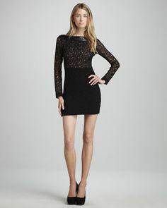 Sarita Pebble-Lace Combo Dress by Diane von Furstenberg at Neiman Marcus.