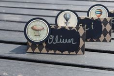 50 Steampunk Party Supplies decor Wedding name place cards food labels hot air balloon Steam Punk Baby Shower Bridal birthday on Etsy, $48.00