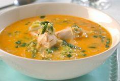 Thaisuppe med kylling - evt naan brød til.