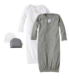 anais Snuggle Knit Gown//Hat Set 100/% Mousseline Coton Navy Stripe aden