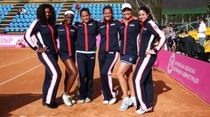 Fed Cup: Team USA in red, white and blue.  April 2012.  #tennis