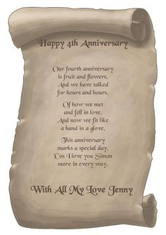 4th Anniversary Gifts On Pinterest