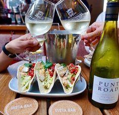 Wine and taco time!  @onceuponawine_