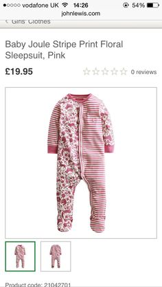 A/W SLEEPER SUIT  GIRLS AGE 18 months - 3 YR JL