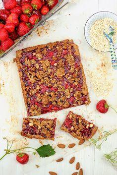 Zdrowe ciasto owsiane z truskawkami Fodmap, Sweet Life, Gluten Free, Sweets, Sugar, Bread, Snacks, Cake, Recipes