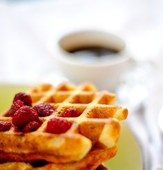 There are two types of waffles. Those that rely on baking powder and the quick chemical reaction that ensues. Those waffles, for the most part, are clunky and a bit too sweet for my taste. Then the…