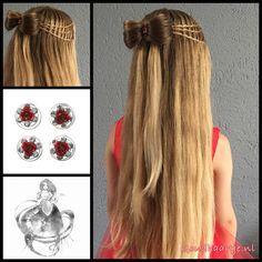 Three twist waterfallbraids, a bow and a curlie from the webshop www.goudhaartje.nl (worldwide shipping).   Bow inspired by: @cutehairbraid (instagram)    #hair #hairstyle #plait #trenza #vlecht #braid #braids #braidideas #hairfeed #hairpost #hairtrends #hairideas #stunninghair #beautifulhair #gorgeoushair #longhair #blonde #thickhair #hairaccessories #haaraccessoires #bow #halfuphalfdown #waterfallbraid #goudhaartje
