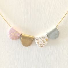 Bunting Necklace - beautiful handmade polymer clay jewellery by Clay & Clasp