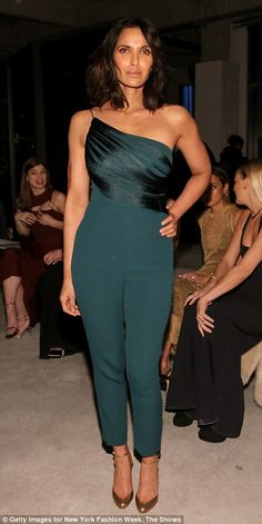 Delightful: She was joined by Padma Lakshmi, who wowed in a green ensemble. Padma Lakshmi, Cushnie Et Ochs, Ashley Graham, Sky High, Looking Stunning, Brunettes, Green Dress, Style Icons, Red Carpet