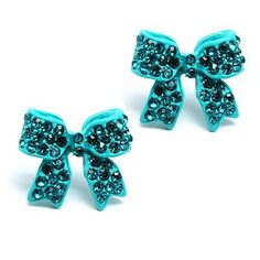Fashion Crystal Pave Bow Ribbon Stud Earrings Teal Accessoriesforever,http://www.amazon.com/dp/B007SPKR7Q/ref=cm_sw_r_pi_dp_spWxsb0MF6YCCDBG