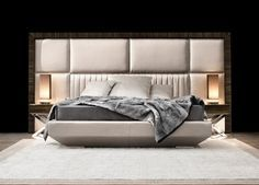 Capital Decor // Kimera Bed    Astonishing luxury contemporary bed entirely made in Italy. Hardwood frame and padded headboard.  Also available in velvet, silk finish or leather.  designpass.co