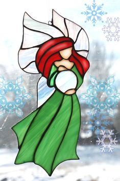 STAINED GLASS Fairy Crystal by themerrymusemarket on Etsy, $65.00
