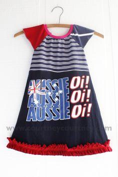 AUS #courtneycourtney #eco #upcycled #recycled #repurposed #tshirt #vintage #dress #girls #unique #clothing #ooak #designer #upscale  #fashion #australia #cheer