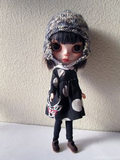 Blythe Doll Outfit Set / Black Dots Deer by Dakawaiidolls on Etsy, $40.00