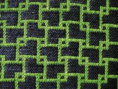 """handwoven sampler __ by """"At Swim-Two-Birds"""" on flickr ~ perhaps this could be adapted for machine knitting ....... LOVE IT!"""