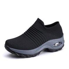 growhairbrasil Platform Sneakers, Slip On Sneakers, Casual Sneakers, Slip On Shoes, Wedge Shoes, Casual Shoes, Shoes Sneakers, Sneakers Women, Shoes Women