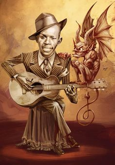 Robert Johnson, the haunted bluesman Robert Johnson, Caricatures, Jazz Art, Delta Blues, Father Time, Blues Brothers, Blues Artists, Music Pictures, Music Tattoos