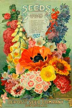 Vintage Deposit Seed Company Ad - 1927 love this beautiful tile!! Displayed on small easel on kitchen counter...