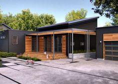 Resultado de imagen para fachadas de casas de una planta sencillas
