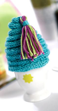 Create this quirky stash-busting egg cosy today!