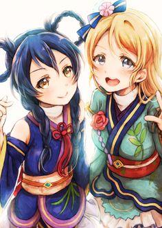 Umi and Eli ~Love Live! Anime Girl Cute, Anime Art Girl, Anime Love, Anime Girls, Cute Girls, Cool Girl, Umi Love Live, Love Live School Idol Project, Blonde Hair Blue Eyes