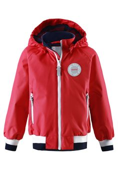 521483-3720_1 Hooded Jacket, Rain Jacket, Windbreaker, Athletic, Red, How To Wear, Jackets, Outdoors, Fashion
