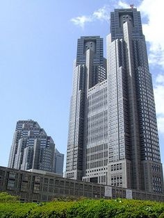 Tokyo Metropolitan Government Building. Follow us for more daily updates at www.pinterest.com/pilkingtonglass | Tags: #Architecture #Tokyo