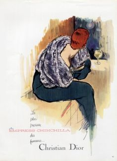 I like this one b/c it has some color Christian Dior (Fur clothing) 1954 Chinchilla