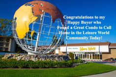 First Happy Buyer of 2014 found a great condo in Leisure World that closed escrow today! Congratulations Donna!
