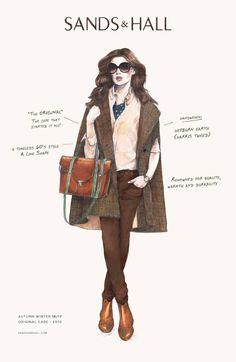 #original #sands&hall #tweed #harristweed #hepburnearth #luxury #cape #poncho #heritage #womensfashion #autumnfashion #winterfashion #fashion #style