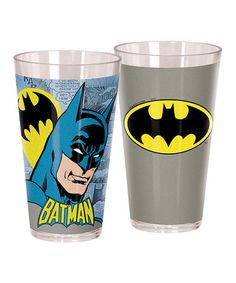 Another great find on #zulily! Batman Cup - Set of Two #zulilyfinds