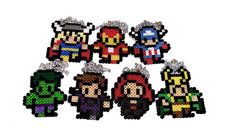 FULL SET The Avengers: Thor, Loki, Iron Man, Captain America, The Hulk and more. $55.00, via Etsy.