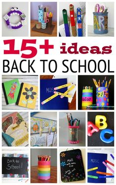 15 Fun Back to School Ideas - Crafts by Amanda