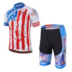 9e3f2da2a Uriah Mens Cycling Jersey and Shorts Sets Short Sleeve Reflective USA Style  Size XLCN