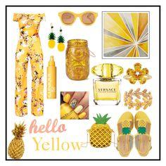 Designer Clothes, Shoes & Bags for Women David Tutera, Talbots, Versace, Folk, Yellow, Polyvore, Shopping, Design, Women