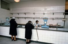 vintage everyday: 50 Astonishing Color Photographs Captured the Communist Regime in Poland in the Early Communism, Socialism, Carnicerias Ideas, Meat Store, Nostalgia, Art Corner, East Germany, Photo Black, Vintage Country