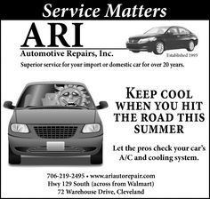 Service Matters    Established 1993    Superior service for your import or domestic car fo...   ARI Automotive Repairs, Inc. - Cleveland, GA #georgia #ClevelandGA #shoplocal #localGA