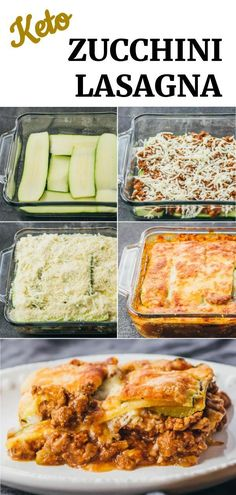 Keto Zucchini Lasagna – Savory Tooth Best zucchini lasagna with meat — a great low carb and healthy alternative to your typical lasagna. This easy casserole is made with ground beef, onions, tomato sauce, and spices. A keto and gluten free recipe. Carb Free Recipes, Healthy Low Carb Recipes, Beef Recipes, Cooking Recipes, Meatloaf Recipes, Carb Free Foods, Carb Free Lunch, Carb Free Dinners, Carb Free Snacks