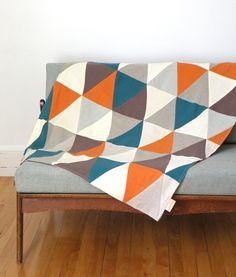 Couverture à marmaille: série CIRQUE Peacock & orange by lacabaneatelier on Etsy