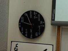 Cool idea for the high school math classroom. DIY with chalkboard paint.